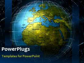 PowerPlugs: PowerPoint template with a globe with a moving background