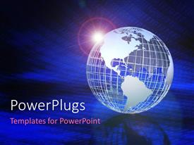 PowerPlugs: PowerPoint template with a globe with a number of binary number sin the background