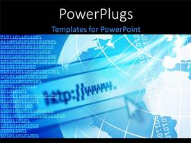 PowerPlugs: PowerPoint template with a globe with a number of binary numbers