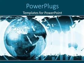PowerPlugs: PowerPoint template with a globe with a number of circle sin the background