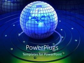 PowerPlugs: PowerPoint template with a globe with a number of circles around it
