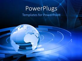 PowerPlugs: PowerPoint template with a globe with a number of circles in background