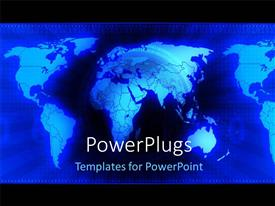 PowerPlugs: PowerPoint template with a globe with a number of maps in the background