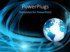 PowerPlugs: PowerPoint template with a globe with a number of spirals in the background