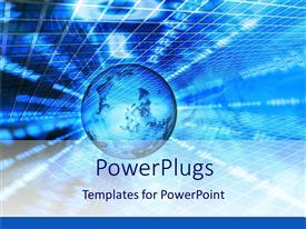 PowerPlugs: PowerPoint template with a globe with technological background and place for text