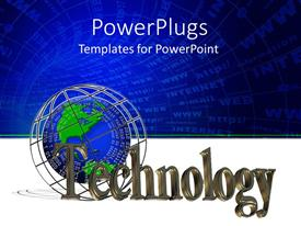 PowerPlugs: PowerPoint template with a globe with various words in the background