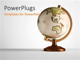 PowerPlugs: PowerPoint template with a globe with white background and place for text