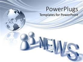PowerPlugs: PowerPoint template with a globe with the word news in front