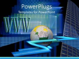 PowerPlugs: PowerPoint template with a globe with www in the background