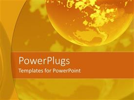 PowerPlugs: PowerPoint template with glowing earth globe with shades of yellow and orange