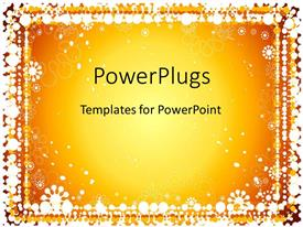 PowerPlugs: PowerPoint template with glowing golden background with white dot border