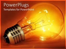 PowerPlugs: PowerPoint template with glowing light bulb representing bright idea or innovation