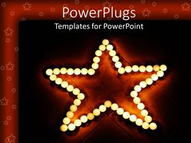 PowerPlugs: PowerPoint template with glowing orbs forming a star on tile floor