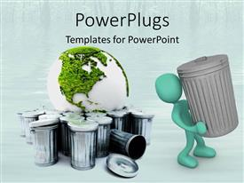 PowerPlugs: PowerPoint template with go green environmentally friendly recycle reduce reuse health sustainability