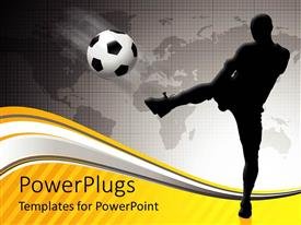 PowerPlugs: PowerPoint template with goals in life archive  success  soccer athlete sports black and white background grayscale background