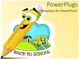 PowerPlugs: PowerPoint template with going to School after vacations