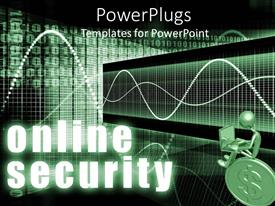 PowerPlugs: PowerPoint template with gold figure sitting on coin using laptop