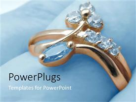 PowerPlugs: PowerPoint template with gold ring with diamond jewels, jewelry, fashion, shopping