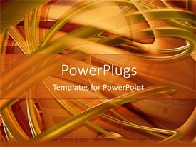 PowerPlugs: PowerPoint template with a golden abstract background related to spirals
