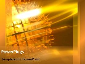 PowerPlugs: PowerPoint template with a golden background with a bullet point and place for text