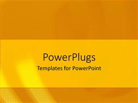PowerPlugs: PowerPoint template with a golden background with a yellow strip in the middle