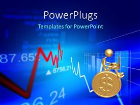 PowerPlugs: PowerPoint template with a golden coin with a person on top of it