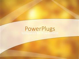 PowerPlugs: PowerPoint template with golden orange shaded background with different light strokes