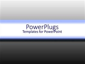 PowerPlugs: PowerPoint template with gradient background from black to shades of grey