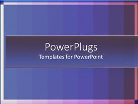 PowerPlugs: PowerPoint template with gradients blue stripes with lines framing the bold background