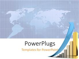 PowerPlugs: PowerPoint template with a graph with a map of the Earth in background