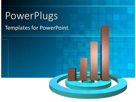 PowerPlugs: PowerPoint template with a graph with a number of circles and boxes in background