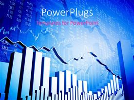 PowerPlugs: PowerPoint template with the graph of stock market with numbers in background