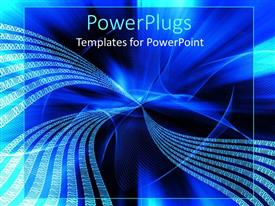 PowerPlugs: PowerPoint template with graphical depiction of binary codes on a blue and black background