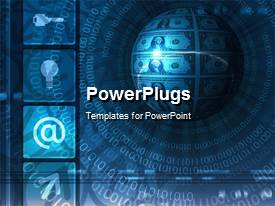 PowerPlugs: PowerPoint template with a graphical depiction of an earth globe and binary numbers