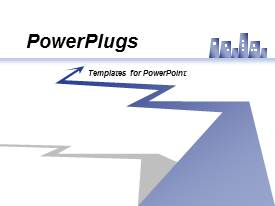 PowerPlugs: PowerPoint template with graphical depiction of financial, economic, growth, arrows in motion