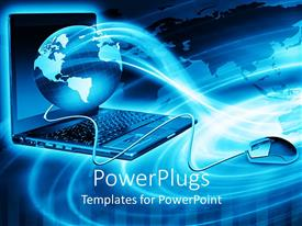 PowerPlugs: PowerPoint template with graphical depiction of a laptop and a wired mouse