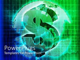 PowerPlugs: PowerPoint template with graphical depiction of a lit huge green dollar symbol