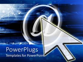 PowerPlugs: PowerPoint template with graphics of a cursor pointing at a metallic @ symbol