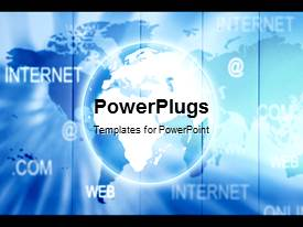 PowerPlugs: PowerPoint template with a graphics of an earth globe and lots of Internet related words