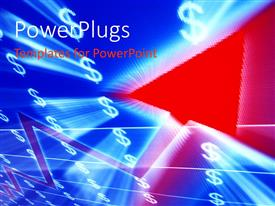 PowerPlugs: PowerPoint template with graphics of a red cursor and lots of dollar symbols