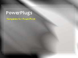 PowerPlugs: PowerPoint template with a grayish background and a bullet point