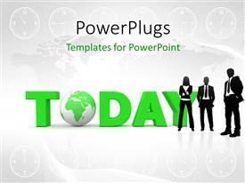 PowerPlugs: PowerPoint template with a grayish background with  lot of clocks