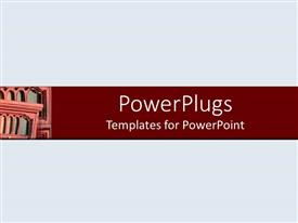 PowerPlugs: PowerPoint template with a grayish background with place for text