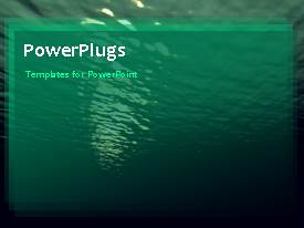 PowerPlugs: PowerPoint template with a greeish background of the sea