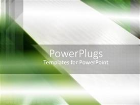 PowerPlugs: PowerPoint template with green abstract background with silver grey