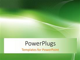PowerPlugs: PowerPoint template with green background with abstract white curves