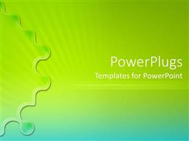 PowerPlugs: PowerPoint template with green and blue abstract background fading modern simple white text