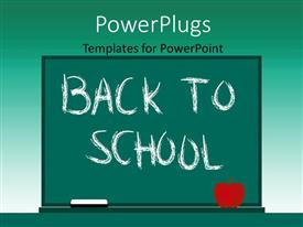 PowerPlugs: PowerPoint template with a green board with greeish background and place for text