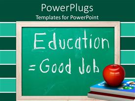 PowerPlugs: PowerPoint template with a green board with green and white background