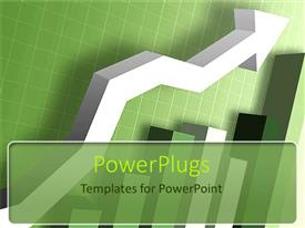 PowerPlugs: PowerPoint template with green charts graphs increasing financial growth of company bar chart